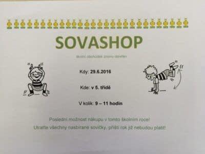 Obchůdek SOVASHOP otevřen
