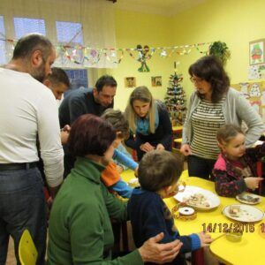 Galerie Vánoční besídka srodiči vdružině