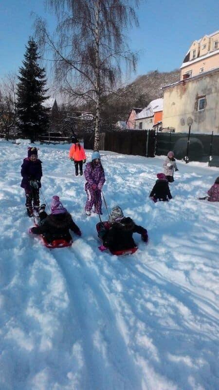 Dovádění ve sněhu