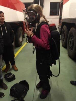 Noční prohlídka hasičské zbrojnice
