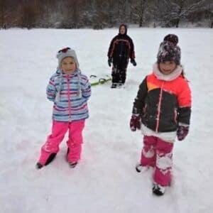 Galerie Prvňáci si užívali sněhovou nadílku