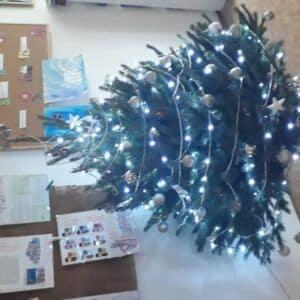 Galerie Školní družina– zdobení vánočního stromu