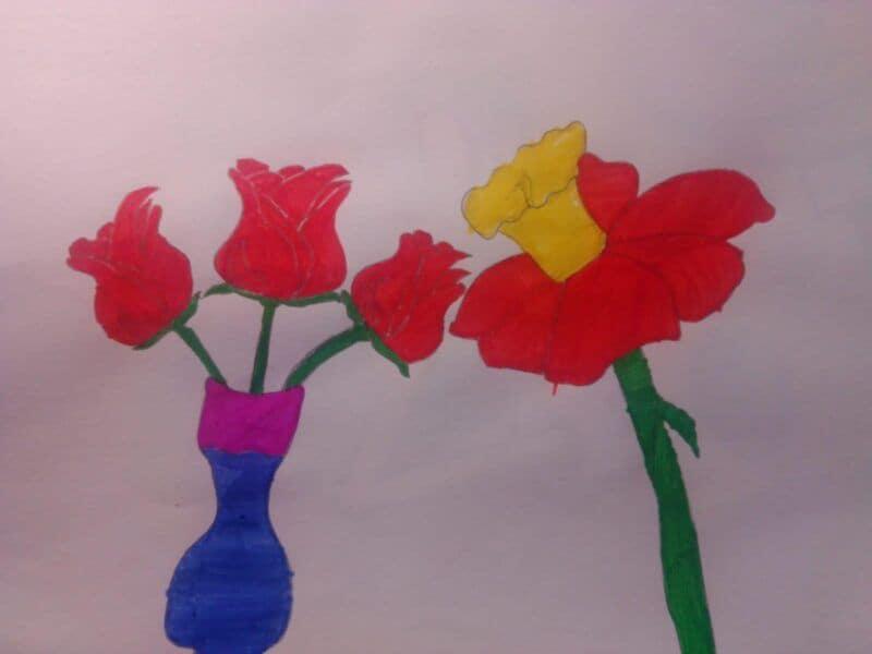 Květiny za vysvědčení