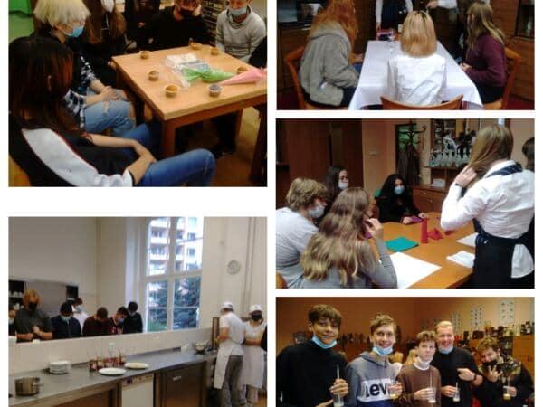 Deváté třídy na Dni otevřených dveří na Hotelové škole Teplice
